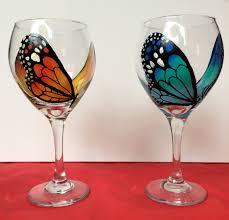 winged wine glass painting the progressive palette