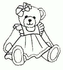 teddy bear coloring pages coloringsuite com
