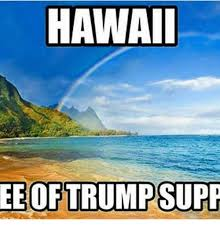 Hawaii Memes - hawaii ee of trump supp meme on me me