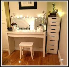glass top vanity table furniture modern white glass top makeup vanity table featuring