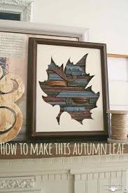 autumn leaf art country design style