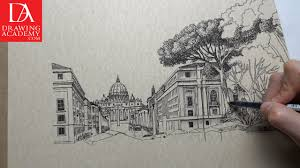how to draw buildings video lesson by drawing academy drawing