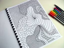 printable coloring page zentangle inspired coloring pattern
