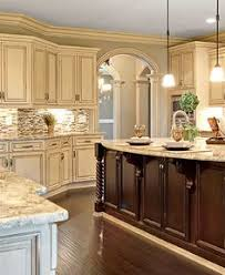 Antique White Glazed Kitchen Cabinets Cabinets Refinished To A Custom Off White Finish With Heavy Glaze