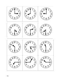 year 1 and year 2 match up clock faces and times o u0027 clock and