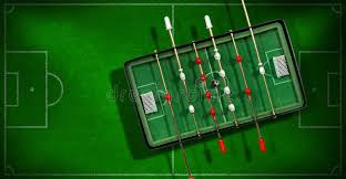 electronic table football game mini table football game with soccer ball stock photo image of