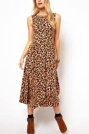 leopard print maxi dress casual dresses women casual