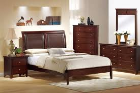 bedroom classic full size sleigh bed sets featuring corner chest