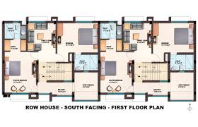 South Facing House Floor Plans Incredible Design Ideas Row House Layout Plan 10 Plans Designs