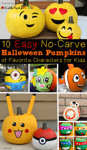 10 halloween no carve pumpkin ideas of favorite kids characters
