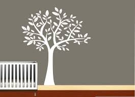White Tree Wall Decal For Nursery Jungle Wall Decals For Nursery Home Designs Insight Most