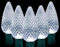 C9 White Christmas Lights Led Christmas 50 Lites C9 Led Stringer Sets Cool White Gch C9 50l