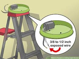 Wiring A Ceiling Light How To Replace A Ceiling Light Socket 13 Steps With Pictures
