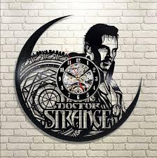 doctor strange vinyl record clock