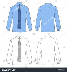 long sleeve mans shirt tie outlined stock vector 524688385