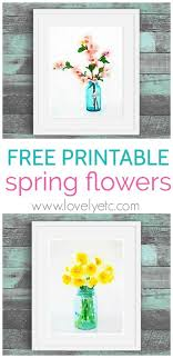 printable spring flowers free spring printables cherry blossoms and daffodils lovely etc