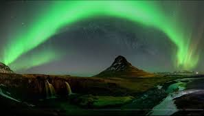 northern lights iceland april mount kirkjufell in iceland surrounded by the aurora on april 2