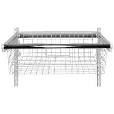 shop rubbermaid homefree series white wire sliding basket at lowes com