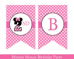printable happy birthday pennant banner printable mickey