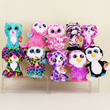 aliexpress buy 15cm ty beanie boos big eyes leopard dotty