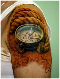 3d compass design of tattoosdesign of tattoos