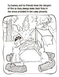 campfire coloring pages getcoloringpages