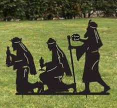 Outdoor Christmas Decorations Silhouettes by Nativity Scene Solar Silhouette Christmas Lawn Yard Decor Outdoor