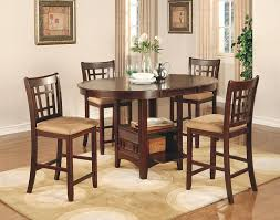amazon com coaster lavon 5 piece counter table and chair set in amazon com coaster lavon 5 piece counter table and chair set in cherry dining room furniture sets kitchen dining