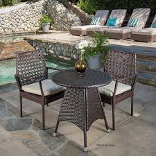 Wicker Bistro Table And Chairs Bistro Set Patio Furniture Patio Set