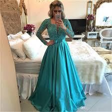 robe de soiree 2017 arabic style evening prom dresses elegant