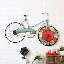 american creative bicycle wall clock personality bike design