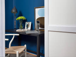 Furniture Home Office Design Ideas With Wooden Furniture And Blue