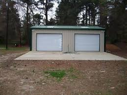 building a 2 car garage steel metal 2 car garage building kit 720 sq workshop barn shed