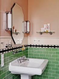 kristen and paul u0027s 1940s style aqua and black tile bathroom built
