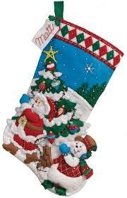 Felt Christmas Stocking Tree Decoration by