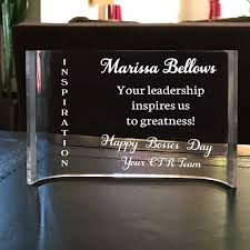 engraved office gifts custom crescent desk plaque for or team leader personalized