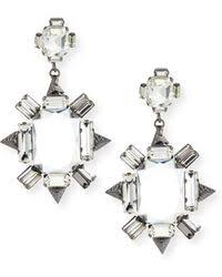 Gunmetal Chandelier Earrings Shop Women U0027s R J Graziano Earrings From 21 Lyst