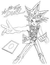 coloring page yu gi oh coloring pages 105