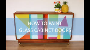 what of paint for cabinet doors how to paint glass cabinet doors diy furniture upcycling project