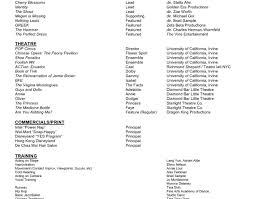 theatre resume resume theater resume template children s theater resume
