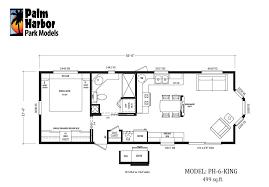 Park Model Home Floor Plans by Palm Harbor Style Park Model Ph 6 King 499 Sq Ft 279406 Jpg 976