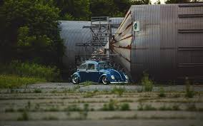 old blue vw beetle car silo hd wallpaper zoomwalls vw