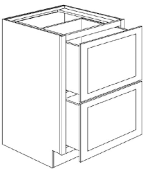 kitchen base cabinets with drawers 2db24 pre assembled white shaker two drawer base cabinet 24 wide x 24 x 34 5
