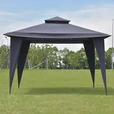 Rite Aid Home Design Double Awning Gazebo Progarden Polyester Steel Grey Canopy Tent 10 U0027 X 10 U0027 Free