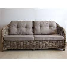 coussins canapé canapé vermont 2 5 places avec coussins vannerie du boisle