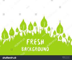 lime silhouette springtime summertime fresh background green spring stock vector