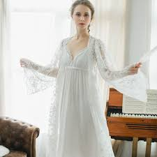 wedding peignoir sets cfyh new arrivals autumn winter nightgown robes set bathrobe
