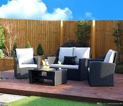 patio ideas 4pcs set wicker cushioned outdoor patio garden
