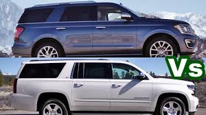 ford explorer vs chevy tahoe 2018 ford expedition vs chevy suburban