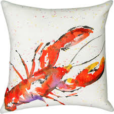 Outdoor Christmas Pillows by Painted Sealife Lobster Outdoor Pillow Dfohome